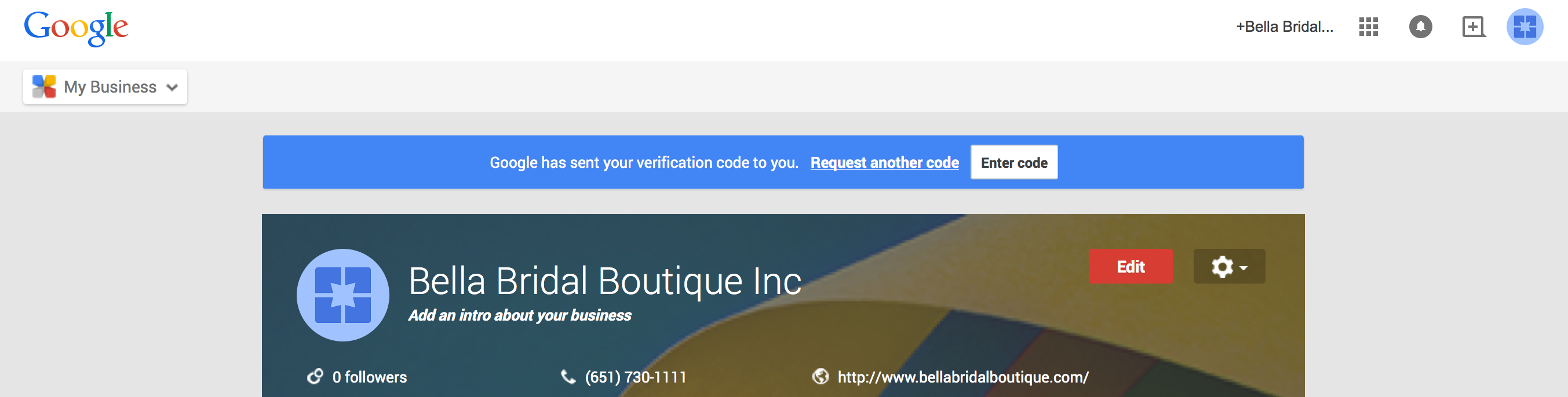 Add code to google plus page
