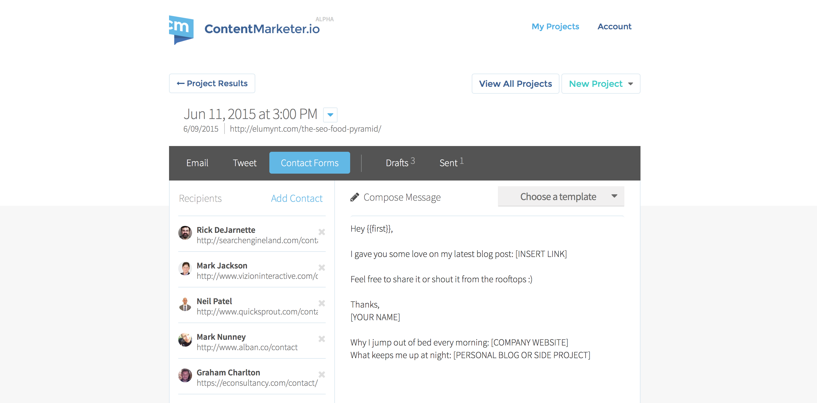 Content Promotion Tool for ContentMarketer.io