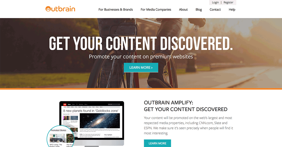 Use Outbrain for Paid Content Promotion