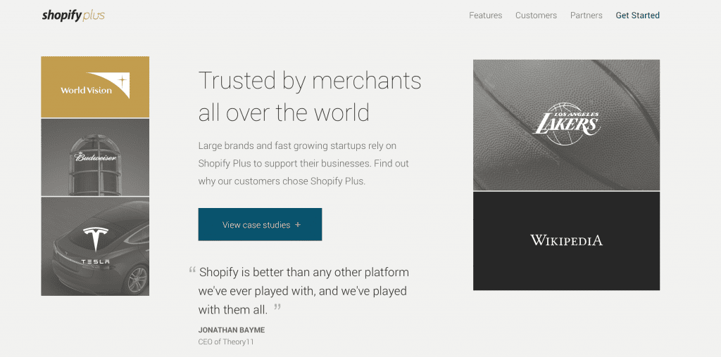 Shopify Plus Trusted for Large eCommerce Stores