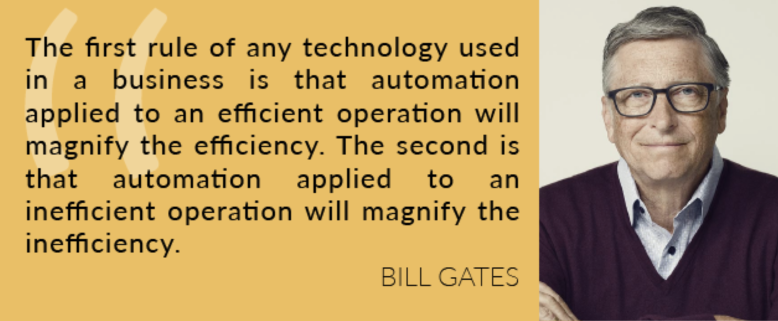 Bill Gates Quote about scaling inefficiencies